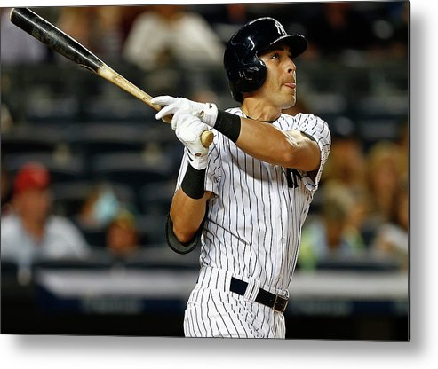 Jacoby Ellsbury Metal Print featuring the photograph Jacoby Ellsbury by Rich Schultz