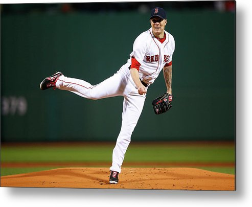 People Metal Print featuring the photograph Jake Peavy by Jared Wickerham