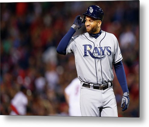 Double Play Metal Print featuring the photograph James Loney by Jared Wickerham