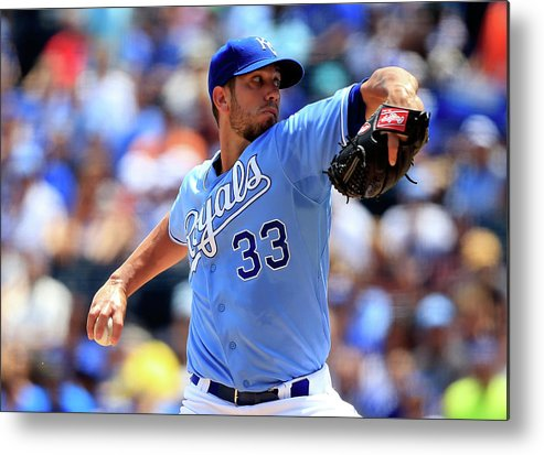 American League Baseball Metal Print featuring the photograph James Shields by Jamie Squire