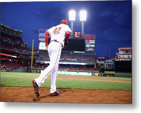 Great American Ball Park Metal Print featuring the photograph Jay Bruce by Andy Lyons