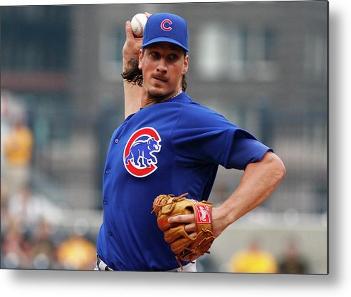 Second Inning Metal Print featuring the photograph Jeff Samardzija by Justin K. Aller
