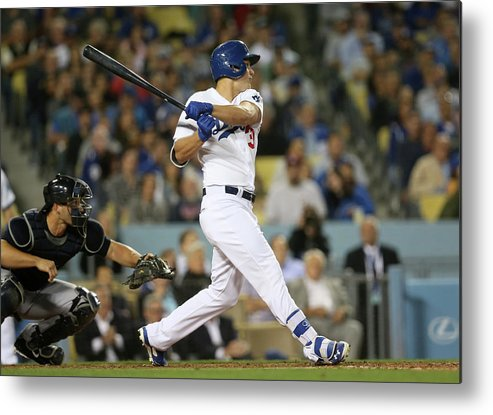American League Baseball Metal Print featuring the photograph Joc Pederson by Stephen Dunn