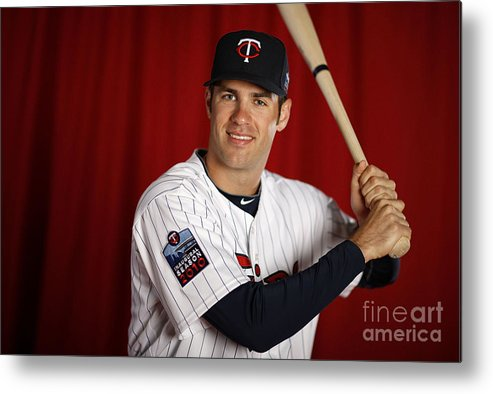 Media Day Metal Print featuring the photograph Joe Mauer by Gregory Shamus