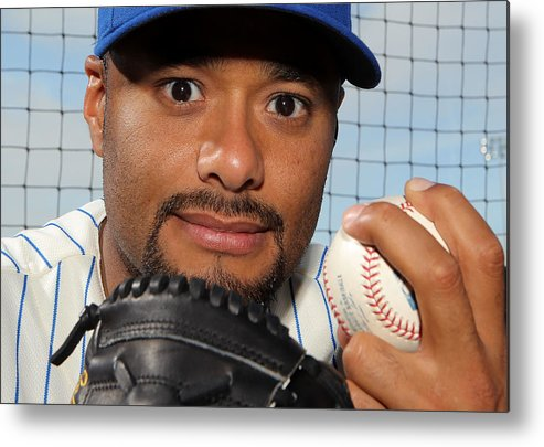 Media Day Metal Print featuring the photograph Johan Santana by Marc Serota