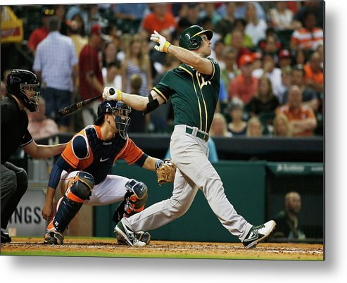 American League Baseball Metal Print featuring the photograph John Jaso by Scott Halleran