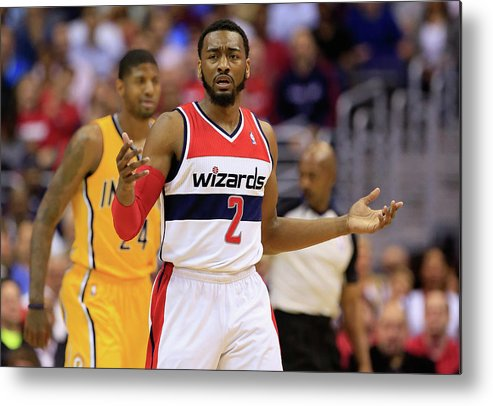 Playoffs Metal Print featuring the photograph John Wall by Rob Carr