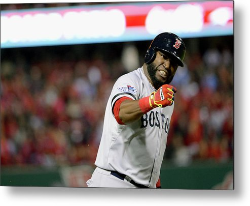 Playoffs Metal Print featuring the photograph Jonny Gomes and David Ortiz by Ron Vesely