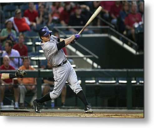 Second Inning Metal Print featuring the photograph Jordan Pacheco by Christian Petersen