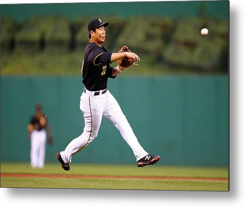 Second Inning Metal Print featuring the photograph Jung Ho Kang by Jared Wickerham