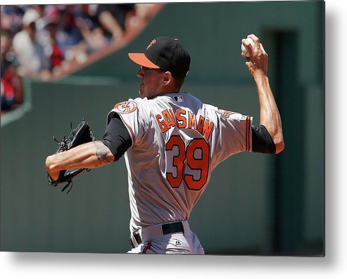 American League Baseball Metal Print featuring the photograph Kevin Gausman by Jim Rogash
