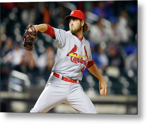 St. Louis Cardinals Metal Print featuring the photograph Kevin Siegrist by Jim Mcisaac