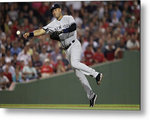 People Metal Print featuring the photograph Kevin Youkilis and Derek Jeter by Elsa