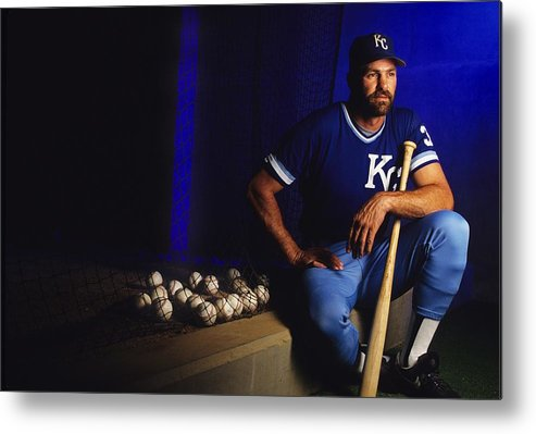 American League Baseball Metal Print featuring the photograph Kirk Gibson by Ronald C. Modra/sports Imagery