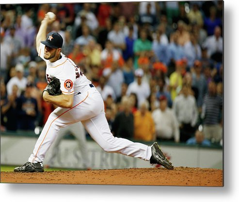 Ninth Inning Metal Print featuring the photograph Lance Mccullers by Scott Halleran