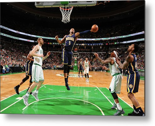 Nba Pro Basketball Metal Print featuring the photograph Lavoy Allen by Brian Babineau