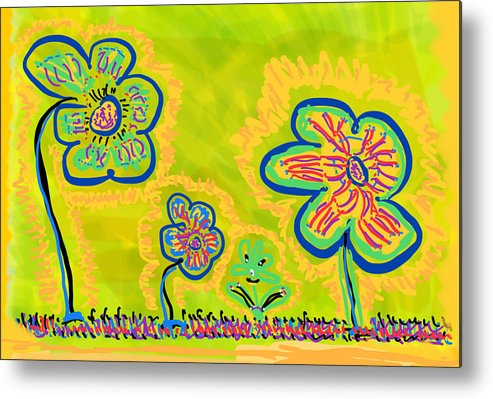 Spring Metal Print featuring the drawing Looking for Spring by Pam Roth O'Mara