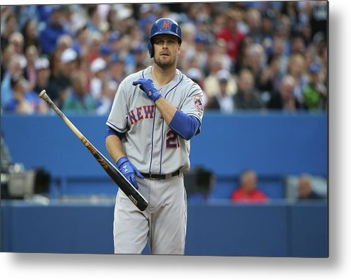 Three Quarter Length Metal Print featuring the photograph Lucas Duda by Tom Szczerbowski