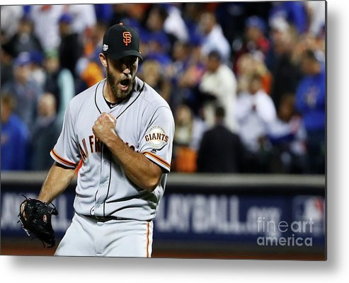 Playoffs Metal Print featuring the photograph Madison Bumgarner by Al Bello