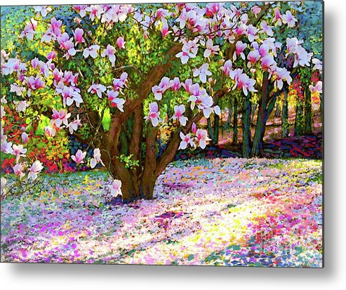 Sun Metal Print featuring the painting Magnolia Melody by Jane Small