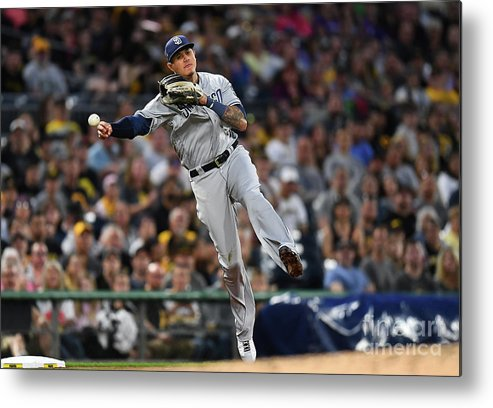 People Metal Print featuring the photograph Manny Machado And Jung Ho Kang by Joe Sargent