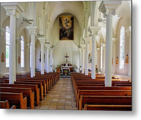 Lahaina Metal Print featuring the photograph Maria Lanakila Church Interior by Kirsten Giving