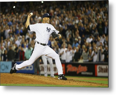 Ninth Inning Metal Print featuring the photograph Mariano Rivera by Al Bello