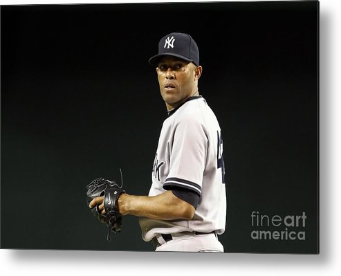 American League Baseball Metal Print featuring the photograph Mariano Rivera by Christian Petersen