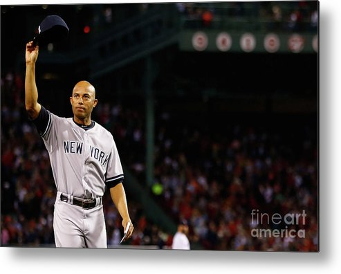 Crowd Metal Print featuring the photograph Mariano Rivera by Jared Wickerham