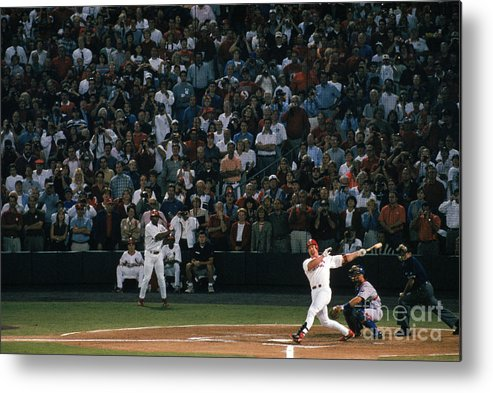 Season Metal Print featuring the photograph Mark Mcgwire and Roger Maris by Bill Stover