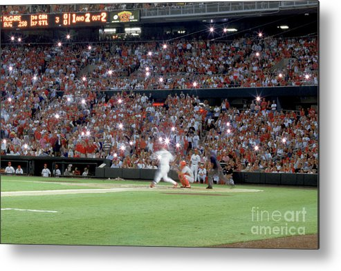St. Louis Cardinals Metal Print featuring the photograph Mark Mcgwire by Rich Pilling