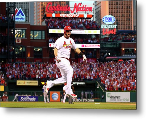 St. Louis Cardinals Metal Print featuring the photograph Matt Adams by Dilip Vishwanat