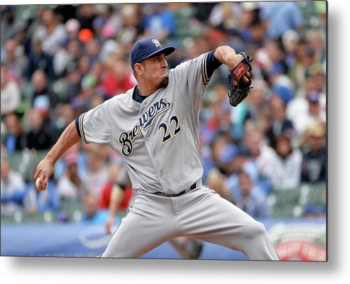 Baseball Pitcher Metal Print featuring the photograph Matt Garza by Brian Kersey