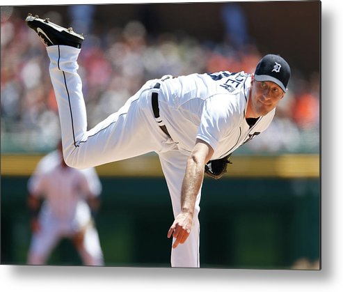 American League Baseball Metal Print featuring the photograph Max Scherzer by Gregory Shamus
