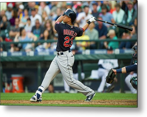 People Metal Print featuring the photograph Michael Brantley by Rich Lam