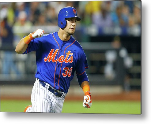 American League Baseball Metal Print featuring the photograph Michael Conforto by Jim Mcisaac