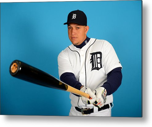 Media Day Metal Print featuring the photograph Miguel Cabrera by Mark Cunningham