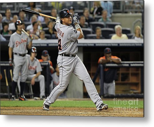 People Metal Print featuring the photograph Miguel Cabrera by Nick Laham