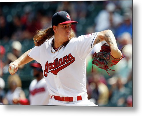 American League Baseball Metal Print featuring the photograph Mike Clevinger by David Maxwell