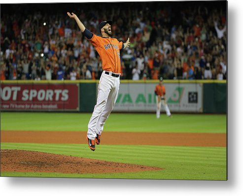 People Metal Print featuring the photograph Mike Fiers by Scott Halleran