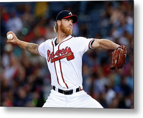 Atlanta Metal Print featuring the photograph Mike Foltynewicz by Mike Zarrilli