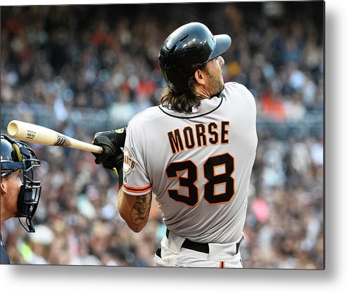 Mike Morse Metal Print featuring the photograph Mike Morse by Denis Poroy