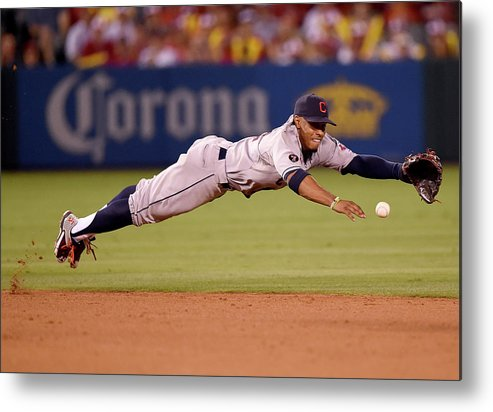 People Metal Print featuring the photograph Mike Trout and Francisco Lindor by Harry How