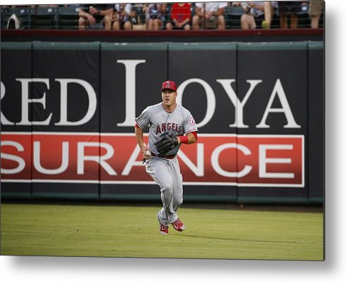 People Metal Print featuring the photograph Mike Trout by Ron Jenkins