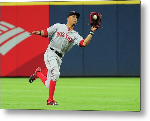 Atlanta Metal Print featuring the photograph Mookie Betts by Scott Cunningham