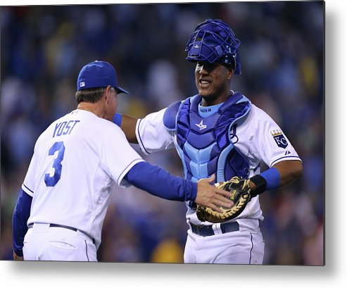 Salvador Perez Diaz Metal Print featuring the photograph Ned Yost by Ed Zurga