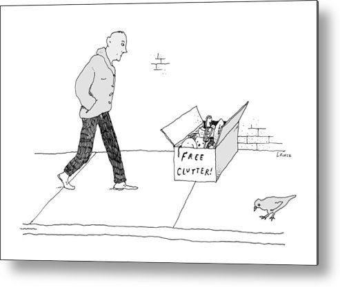 Captionless Metal Print featuring the drawing New Yorker April 12, 2021 by Liana Finck