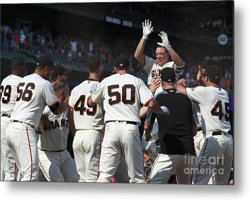 San Francisco Metal Print featuring the photograph Nick Hundley by Thearon W. Henderson
