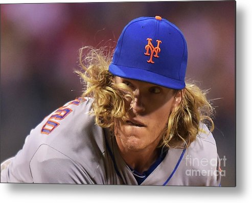 People Metal Print featuring the photograph Noah Syndergaard by Drew Hallowell