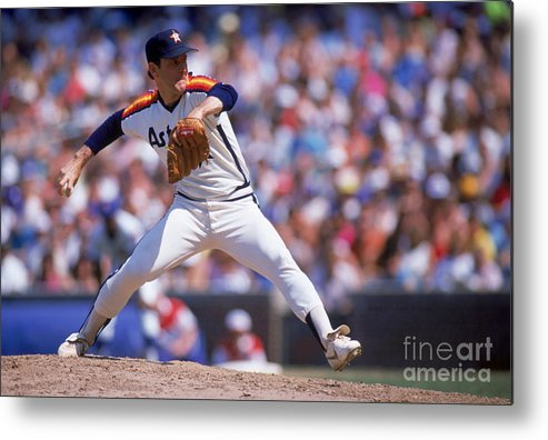 1980-1989 Metal Print featuring the photograph Nolan Ryan by Ron Vesely